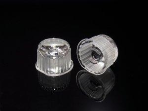 画像1: パワーLED専用 集光レンズ[20mm-透明-45度-透明ケース]
