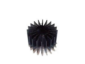 画像1: 3WパワーLED用 ヒートシンク(小)(黒)