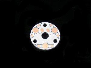 画像1: ハイパワーLED用アルミ基板(31mm円形3個直列用)